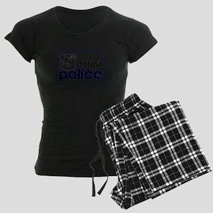 Old Detroit Police Logo Women's Dark Pajamas
