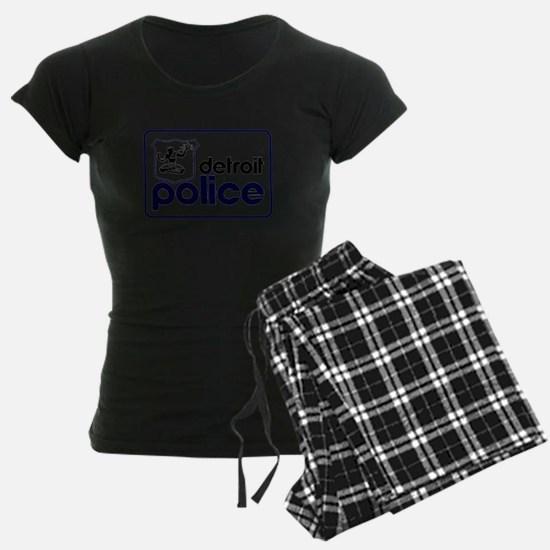 Old Detroit Police Logo Pajamas