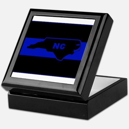 Thin Blue Line - North Carolina Keepsake Box