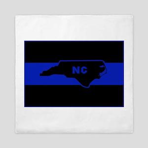 Thin Blue Line - North Carolina Queen Duvet