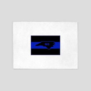Thin Blue Line - North Carolina 5'x7'Area Rug