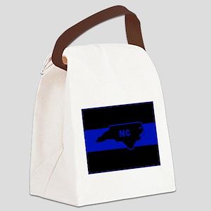 Thin Blue Line - North Carolina Canvas Lunch Bag