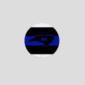 Thin Blue Line - North Carolina Mini Button