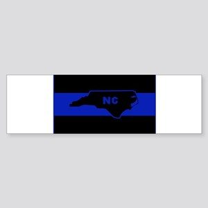 Thin Blue Line - North Carolina Bumper Sticker