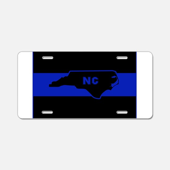 Thin Blue Line - North Caro Aluminum License Plate