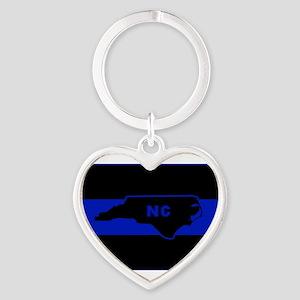 Thin Blue Line - North Carolina Keychains