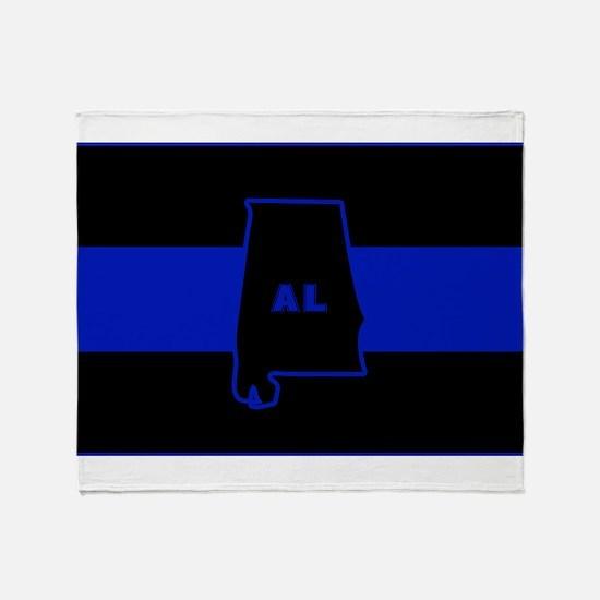 Thin Blue Line - Alabama Throw Blanket