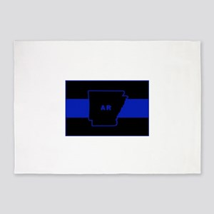 Thin Blue Line - Arkansas 5'x7'Area Rug