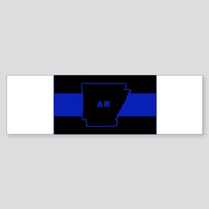 Thin Blue Line - Arkansas Bumper Sticker