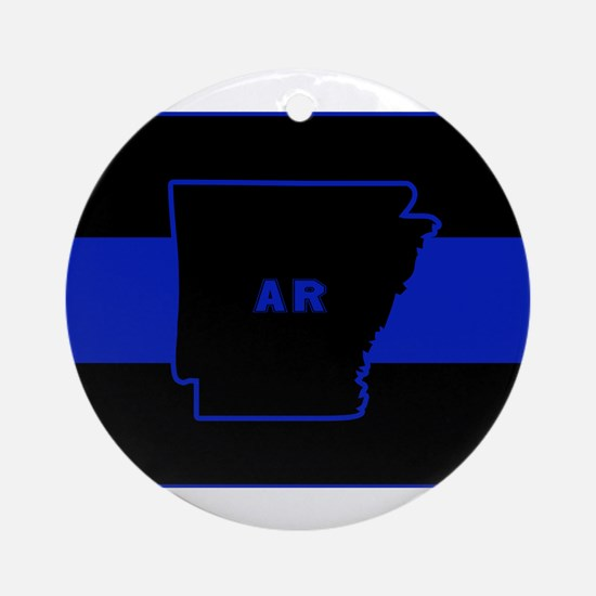 Thin Blue Line - Arkansas Round Ornament
