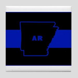 Thin Blue Line - Arkansas Tile Coaster