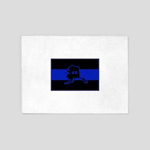 Thin Blue Line - Alaska 5'x7'Area Rug