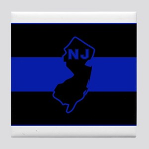 Thin Blue Line - New Jersey Tile Coaster
