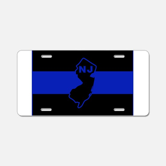 Thin Blue Line - New Jersey Aluminum License Plate