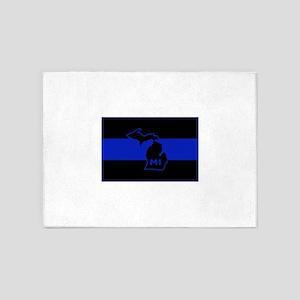 Thin Blue Line - Michigan 5'x7'Area Rug