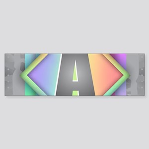 Rainbow Splash A Bumper Sticker