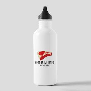 Meat Is Murder. Tasty, Tasty, Murder. Water Bottle
