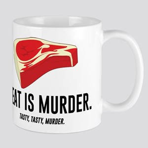Meat Is Murder. Tasty, Tasty, Murder. Mugs