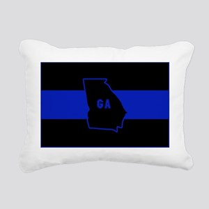 Thin Blue Line - Georgia Rectangular Canvas Pillow