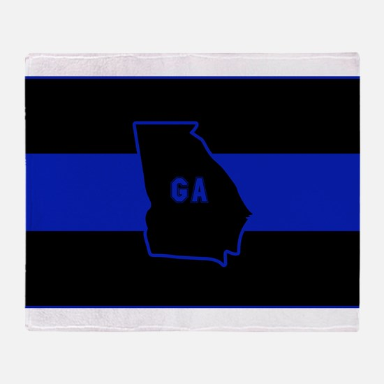 Thin Blue Line - Georgia Throw Blanket