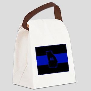Thin Blue Line - Georgia Canvas Lunch Bag