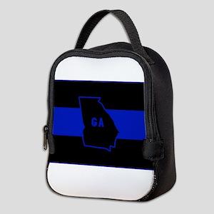 Thin Blue Line - Georgia Neoprene Lunch Bag