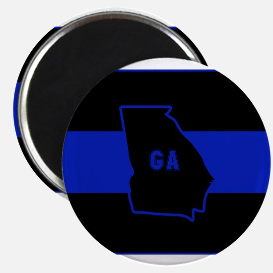 Thin Blue Line - Georgia Magnets