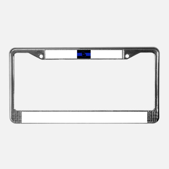 Thin Blue Line - Georgia License Plate Frame