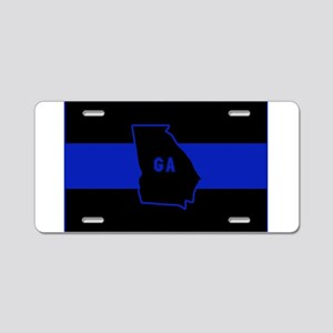 Thin Blue Line - Georgia Aluminum License Plate