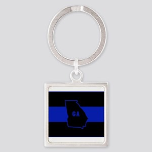 Thin Blue Line - Georgia Keychains