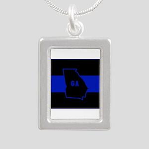 Thin Blue Line - Georgia Necklaces