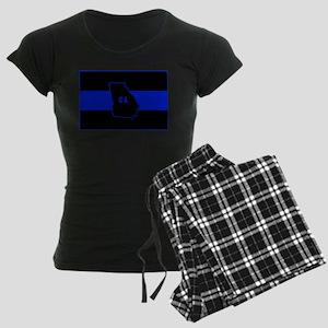 Thin Blue Line - Georgia Women's Dark Pajamas