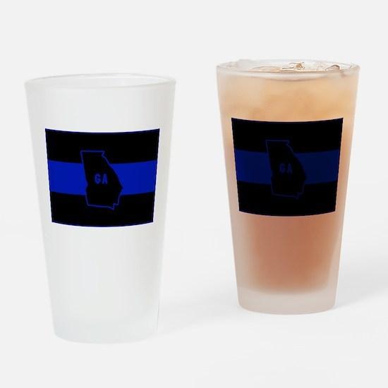 Thin Blue Line - Georgia Drinking Glass