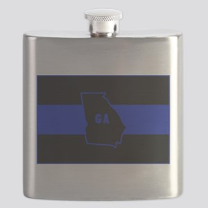 Thin Blue Line - Georgia Flask