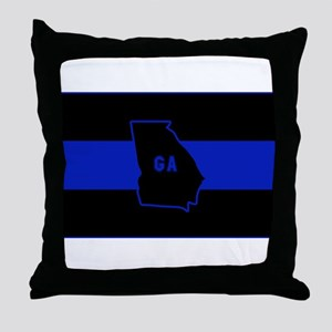 Thin Blue Line - Georgia Throw Pillow