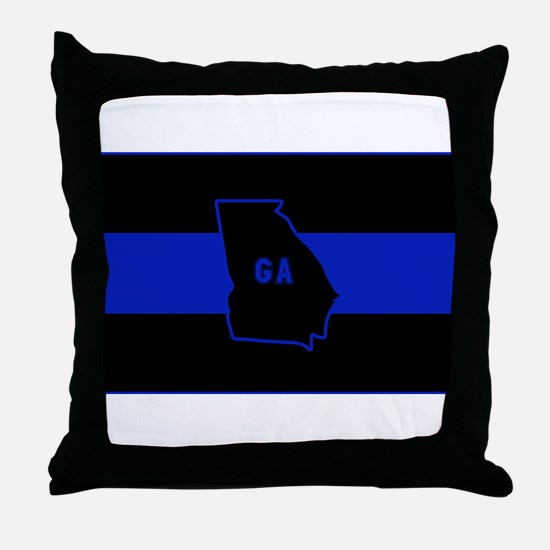 Thin Blue Line - Georgia Throw Pillow
