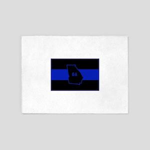 Thin Blue Line - Georgia 5'x7'Area Rug