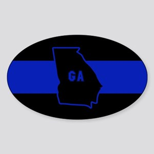 Thin Blue Line - Georgia Sticker