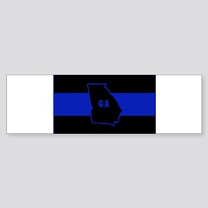 Thin Blue Line - Georgia Bumper Sticker