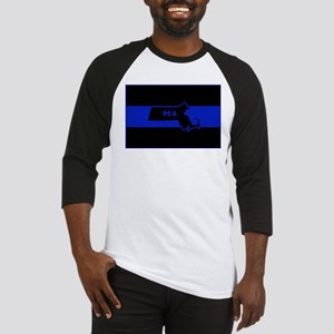 Thin Blue Line - Massachusetts Baseball Jersey