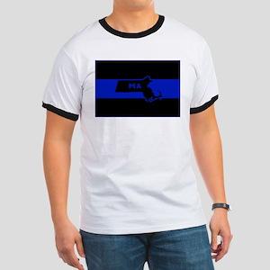 Thin Blue Line - Massachusetts T-Shirt