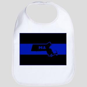 Thin Blue Line - Massachusetts Bib