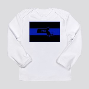 Thin Blue Line - Massachusetts Long Sleeve T-Shirt