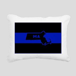 Thin Blue Line - Massach Rectangular Canvas Pillow