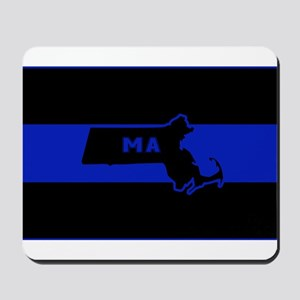 Thin Blue Line - Massachusetts Mousepad