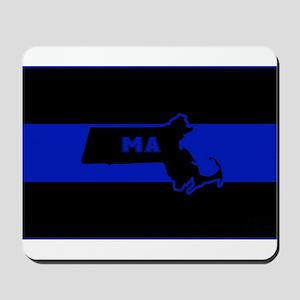 Thin Blue Line - Massachusetts Mousepad