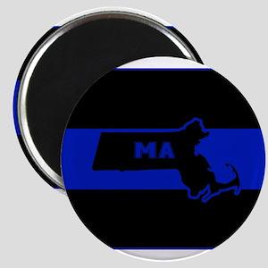 Thin Blue Line - Massachusetts Magnets