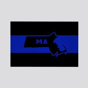 Thin Blue Line - Massachusetts Magnets