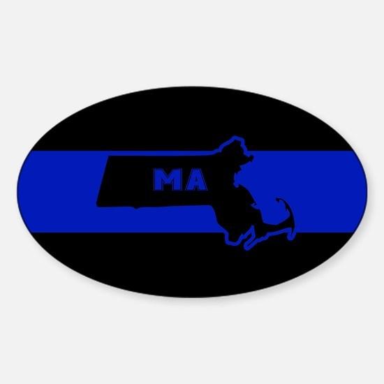 Thin Blue Line - Massachusetts Decal