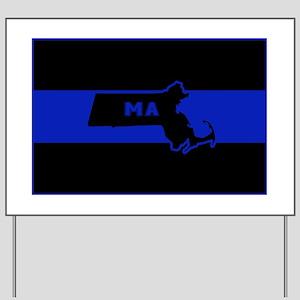 Thin Blue Line - Massachusetts Yard Sign